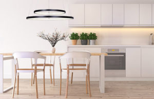 Pendant Lighting Modern LEXIE Canarm LCH128A24WH in the kitchen