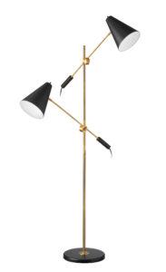Floor Lamp vintage Dainolite 130F-BK-VB