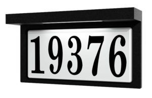 Address Plate Modern Snoc 1719-3ld7c