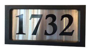 Address Plate Modern Snoc sn1732-1-3-9