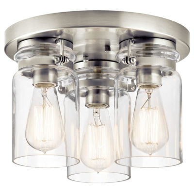 Flush Mount LightingIndustrial rustic BRINLEY Kichler 42891ni