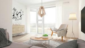 Pendant Lighting Contemporary GEM Craftmade 44592-ESP in the living room.