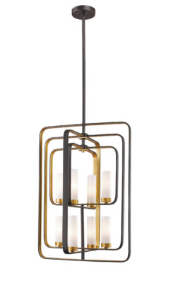 Pendant Lighting Transitional AIDEEN Z-Lite 6000-8B-BZGD