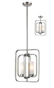 Pendant flush mount Lighting Transitional AIDEEN Z-Lite 6000MP-BN
