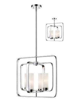 Pendant flush mount Lighting Transitional AIDEEN Z-Lite 6000SFC-CH