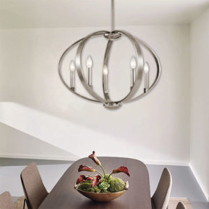 Pendant Lighting Contemporary ELATA Kichler 43872clp over the kitchen table