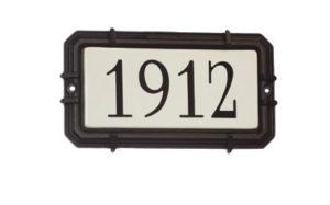 Address Plate Modern Snoc 1721-4-5-7-8-18-37-43