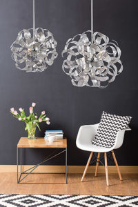 Pendant Lighting Modern BELAIR Artcraft AC626CH in a reading corner