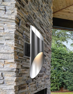 Wall Sconce Lighting Modern BEACON HILL Dvi DVP 20372GR-SS outdoor on a brick wall