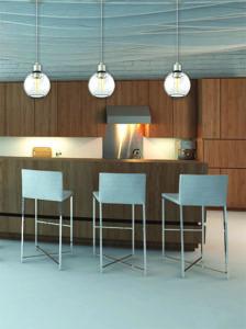Pendant Lighting Modern OCEAN DRIVE Dvi DVP20821SN-CH-Clin a modern kitchen