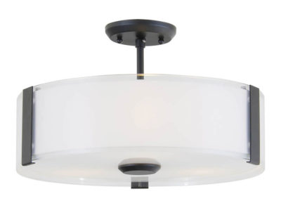 Flush Mount Lighting Contemporary ZURICH Dvi DVP14511GR-SS-OP