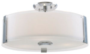 Flush Mount Lighting Contemporary ZURICH Dvi DVP14512CH-SS-OP