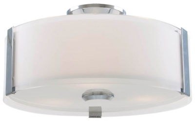 Flush Mount Lighting Contemporary ZURICH Dvi DVP14532CH-SS-OP