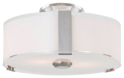 Flush Mount Lighting Contemporary ZURICH Dvi DVP14532SN-SS-OP