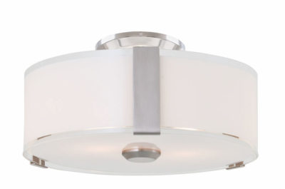 Flush Mount Lighting Contemporary ZURICH Dvi DVP14592SN-SS-OP