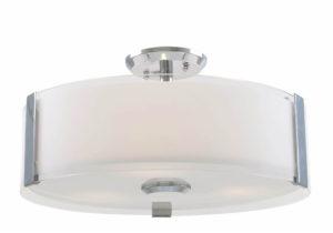 Flush Mount Lighting Contemporary ZURICH Dvi DVP14596SN-SS-OP