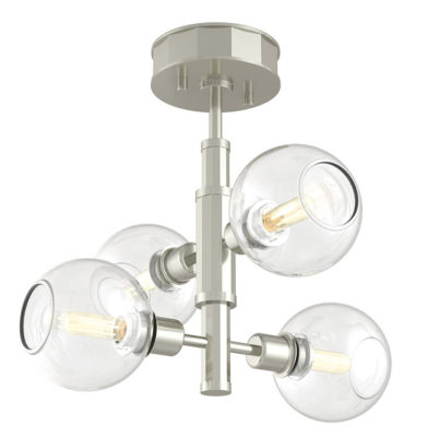 Flush Mount Lighting Modern OCEAN DRIVE Dvi DVP20811SN-CH-CL