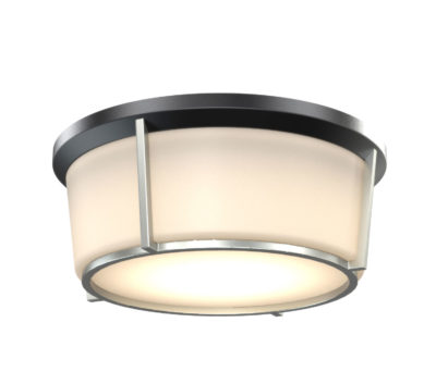 Flush Mount Lighting Transitional JARVIS Dvi DVP21938BK-CH-OP
