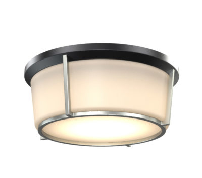 Flush Mount Lighting Transitional JARVIS Dvi DVP21938BK-SN-OP