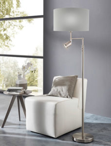 Floor Lamp with lampe de reading SANTANDER 201828A  in the living room next to the chair and de la fenetre