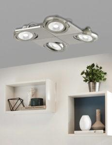 Flush Mount Lighting Modern BREA Eglo 39251A in the living room
