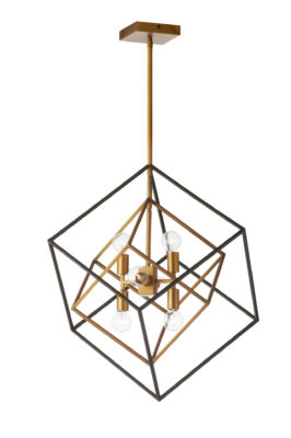 Pendant Lighting Industrial Dainolite KAP-196P-VB-MB