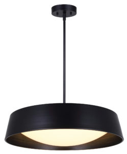 Pendant Lighting Modern Contemporary Industrial DION Canarm LCH131A22BK