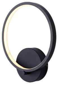 Wall Sconce Lighting Modern LEXIE Canarm LWF128A01BK