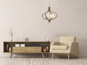 Luminaire suspendu traditionnel JASMINE Craftmade 46724-PLNWF dans le salon