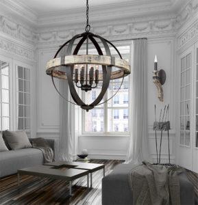 Luminaire suspendu rustique CASTELLO Artcraft AC10015 dans le salon