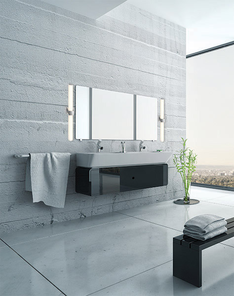 luminaire mural salle de bain ledvan002 24 sn. Black Bedroom Furniture Sets. Home Design Ideas