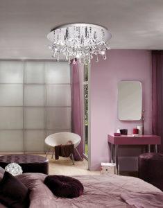 Luminaire plafonnier moderne OCONDO Eglo 93053A dans la chambre à coucher