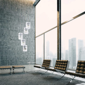 Luminaire suspendu moderne METRO Kendal pf44-3lpa-ch dans le salon
