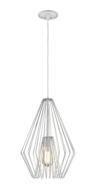 Luminaire suspendu transitionnel moderne QUINTUS Z-Lite 442MP12-WH