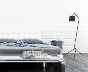 Floor Lamp Modern SENTADO Creation Nova CN4261 in a modern bedroom