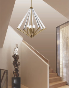 Pendant Lighting Contemporary ALT Dainolite ALT-133C-VB in a staircase