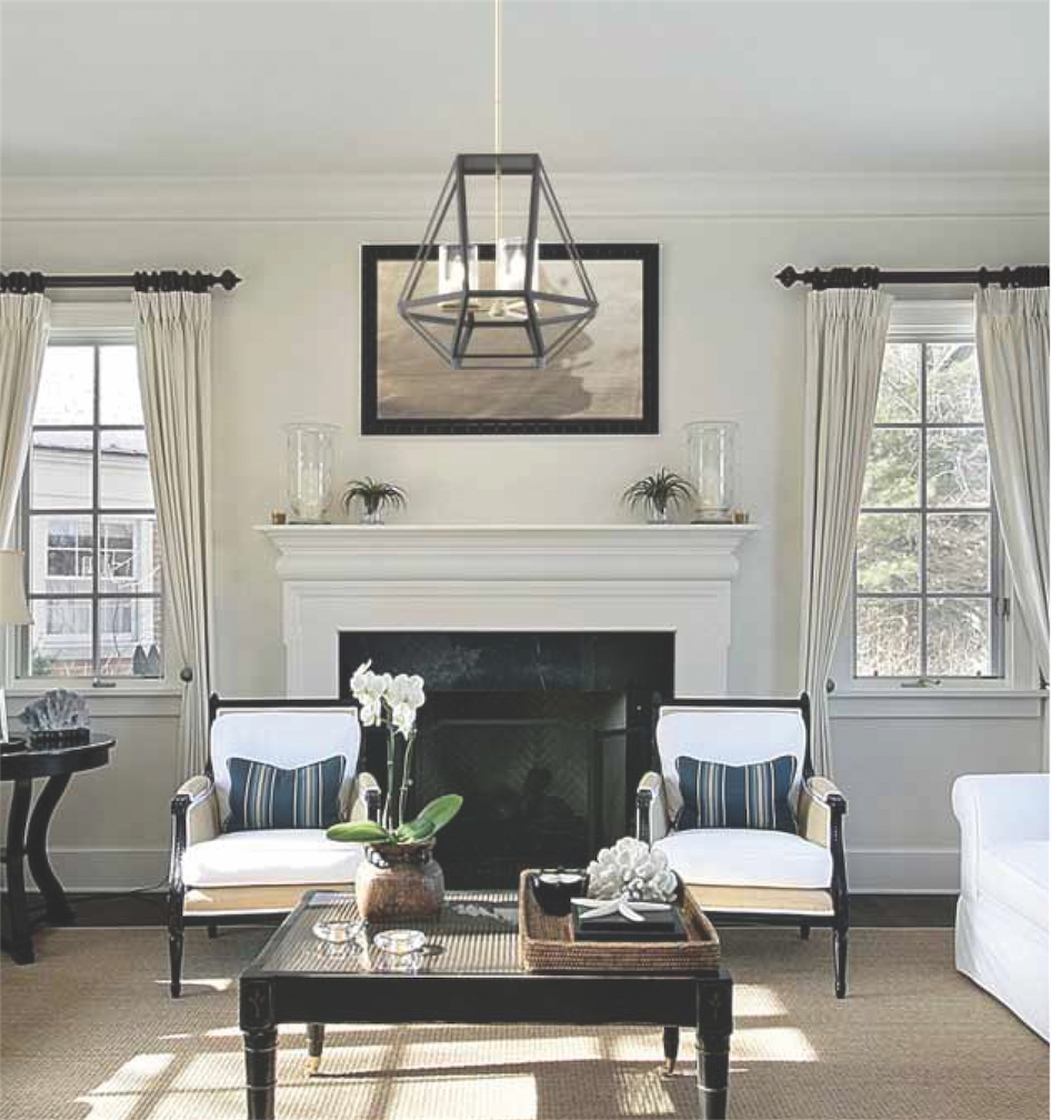 Pendant Lighting Transitional GIVENCHY Dvi DVP25648BN-GR in the living room near the fireplace
