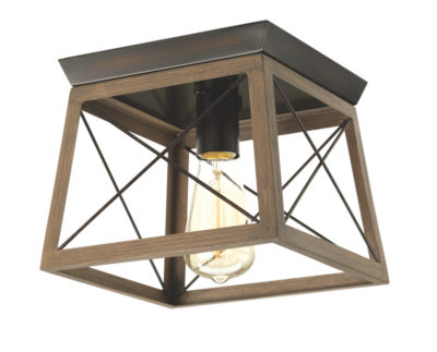 Flush Mount Lighting rustic traditional BRIARWOOD Progress P350022-020