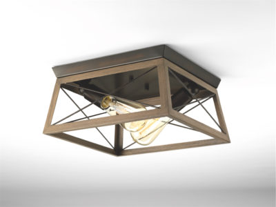 Flush Mount Lighting rustic traditional BRIARWOOD Progress P350039-020