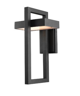 Wall Sconce Lighting outdoor Modern LUTTREL Z-Lite 566B-BK-LED