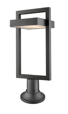 Outdoor lighting Modern LUTTREL Z-Lite 566PHBR-553PM-BK-LED