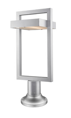 Outdoor lighting sur poteau Modern LUTTREL Z-Lite 566PHBR-553PM-SL-LED