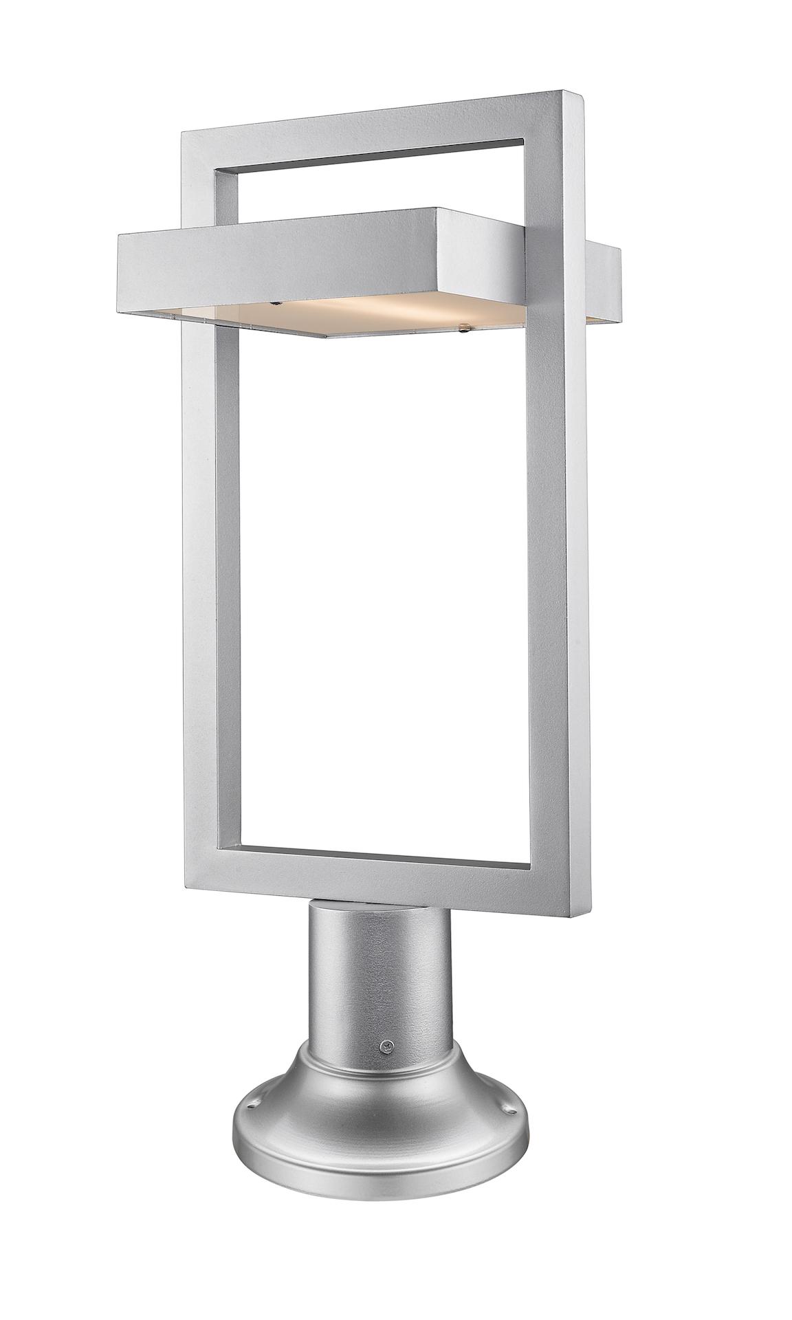 luminaire ext rieur sur poteau luttrel 566phbr 553pm sl led. Black Bedroom Furniture Sets. Home Design Ideas