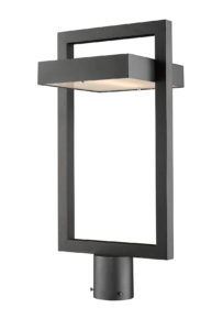 Outdoor lighting Modern LUTTREL Z-Lite 566PHBR-BK-LED