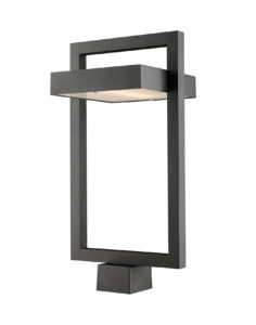 Outdoor lighting Modern LUTTREL Z-Lite 566PHBS-BK-LED