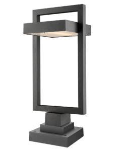Outdoor lighting Modern LUTTREL Z-Lite 566PHBS-SQPM-BK-LED