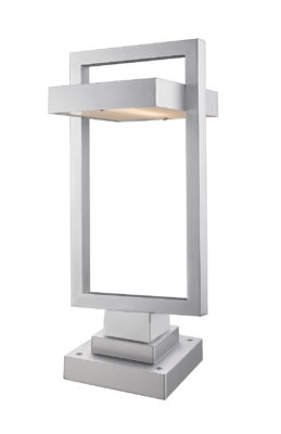 Outdoor lighting Modern LUTTREL Z-Lite 566PHBS-SQPM-SL-LED