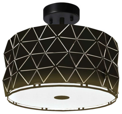 Luminiare Flush Mount Lighting Modern ORIGAMI iL IL-006-1015-WH