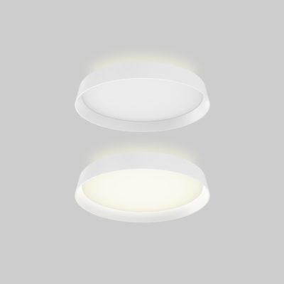 Flush Mount Lighting round Modern DALS CFH12-3K-SN
