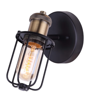Wall Sconce Lighting industrial VOX Canarm ICW704A01BKG